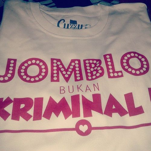 Very amazed JombloBukanKriminal is the most sold product right now! at @cuzzy_clothing web store! Wow! :) Cuzzy_Clothing
