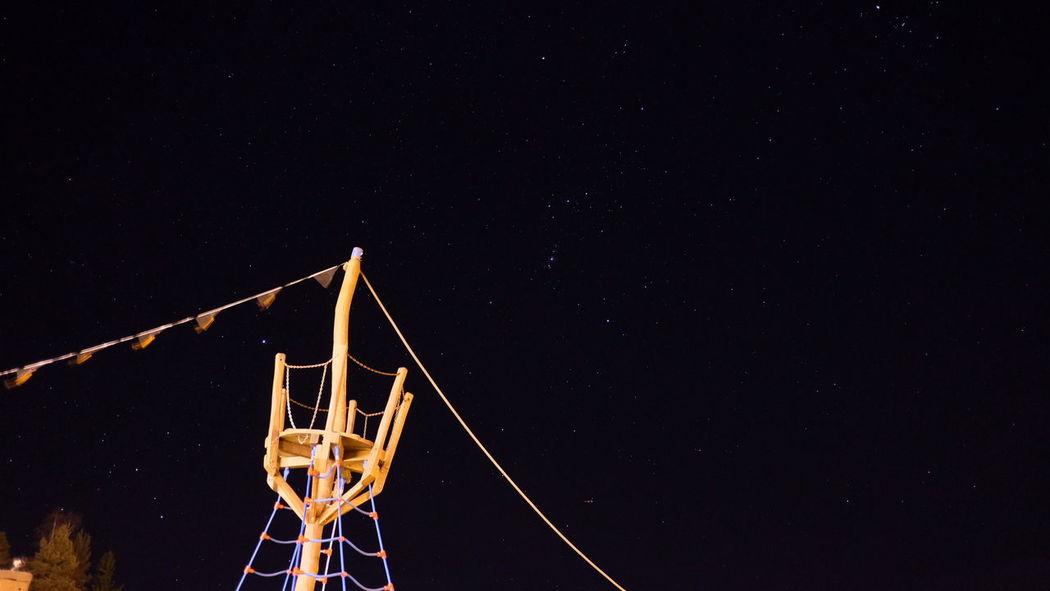 Amusement Park Astronomy Constellation Illuminated Lipno Lipnonadvltavou Low Angle View Nature Night No People Outdoors Sky Star - Space Star Field