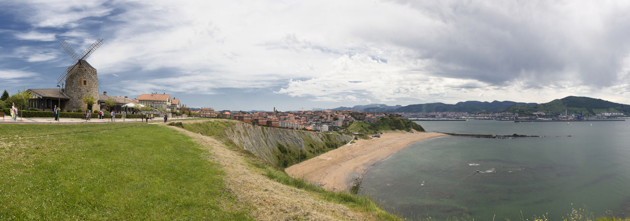 Basque Country Cantabric Sea Cliff Euskadi Getxo Panorama Panoramic Sea SPAIN Vizcaya Windmill