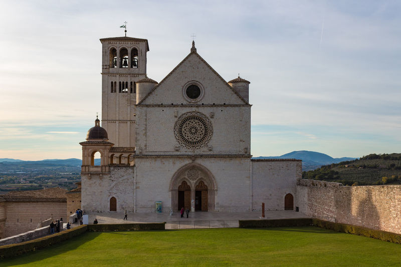 Basilica Church Saint Francis Of Assisi Architecture Bell Tower Building Exterior Built Structure Cloud - Sky Cross Day History No People Outdoors Place Of Worship Religion Sky Spirituality