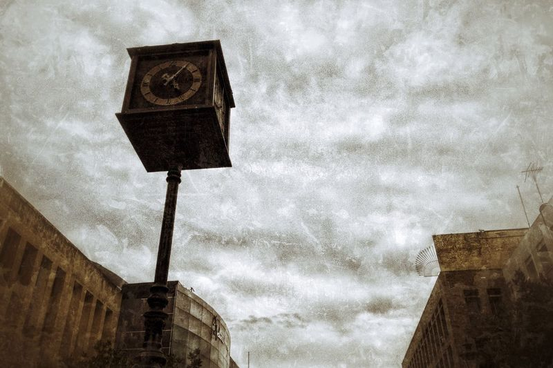 Streetphotography Time Clock Jalisco Guadalajara Low Angle View Sky Cloud - Sky Building Exterior Architecture Built Structure Outdoors No People