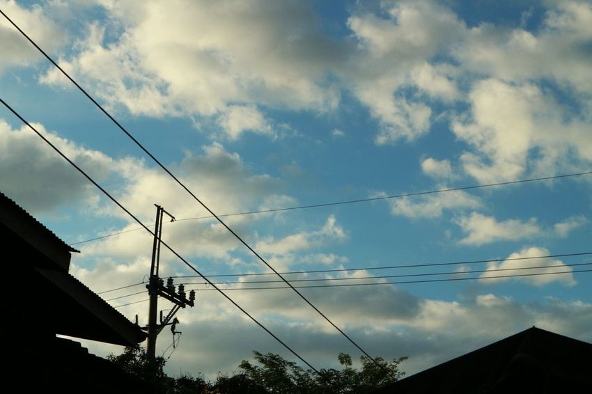 Day Nature Outdoors No People Sky Power Supply Cable Cloud - Sky Electricity
