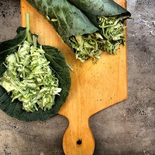 sauerkraut wraps Saltfree Nonfermented Rawvegan