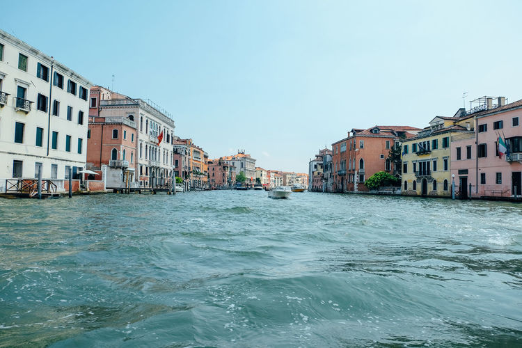 canal in venice italy Venice Venice, Italy Italy City Travel Travel Destinations Architecture Water Building Exterior Sky Waterfront Built Structure Nature Building Clear Sky Day Residential District Sea Outdoors No People Motion Copy Space Rippled Canal Turquoise Colored