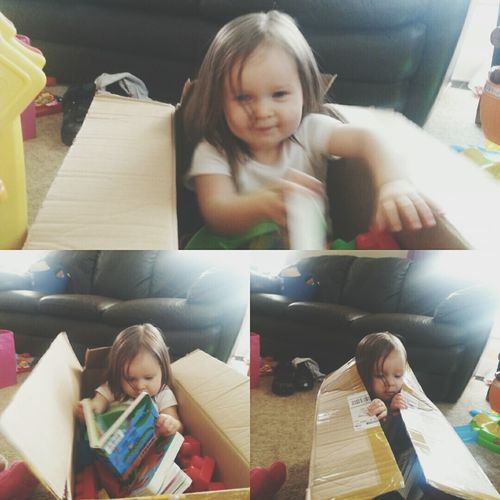 Who needs toys when you have a box! Popular Photos Hello World Andrography Enjoying Life Color Portrait EyeEm Snapshots Of Life Snapseed Morning Allineed  Babygirl Myoneandonly Truelove EyeEm Best Shots - People + Portrait Taking Photos Life MyLifeInPictures July 2016