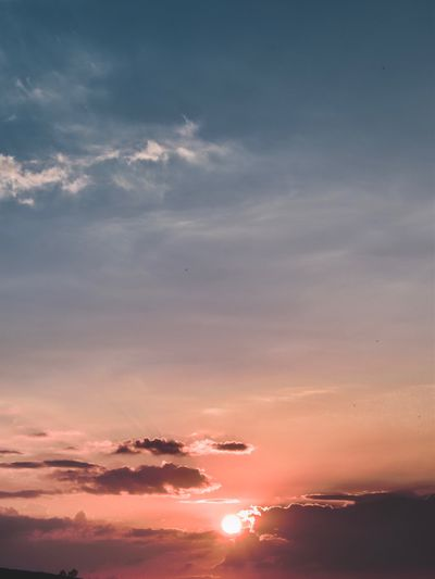 Scenic view of sunset sky