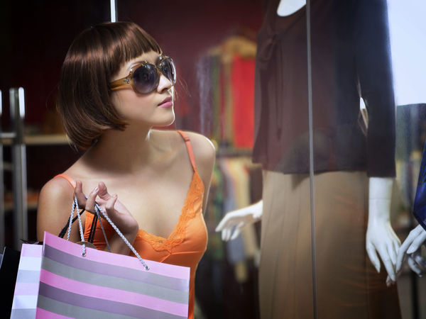 shopping at clothing store Asian  Business Fashion Free Time Happiness Shopping Clothing Store Consumerism Customer  Discount Enjoying Life Female Fun Time Garment Leisure Activity Lifestyles Mannequin Retail  Sales Shopping Bag Shopping Mall Smiling Sunglasses Weekend Activities Women