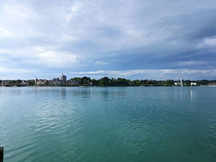 Water Sea Tree City Summer Blue Water's Edge Waterfront Pier Horizon Over Water Idyllic