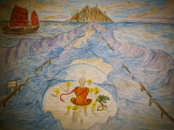 😃Find my others drawing here: ✏Zaap'sdraws✏......Creativity Drawing From My Point Of View Untold Stories Enjoying Life Sea Ocean Seascape Traveling Sunset Landscape