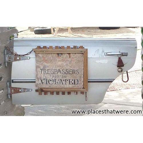 Trespassers will be violated. Urbanexploration Urbex Saltonsea Slabcity Eastjesus Niland