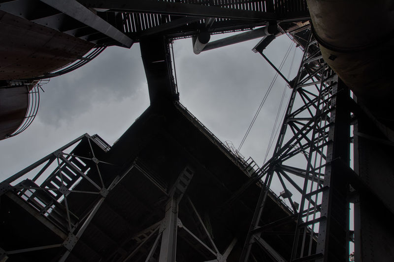 Urbex - 6 Architecture Low Angle View Built Structure Sky Metal Industry Day Outdoors Nature Construction Industry Machinery No People Construction Site Occupation Old Cloud - Sky Transportation Abandoned Travel Building Exterior Girder