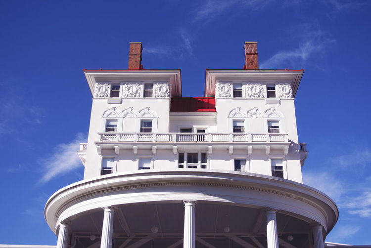Mount Washington  Architecture Blue Building Exterior Built Structure Cloud - Sky Day Low Angle View Mount Washington Hotel No People Outdoors Sky