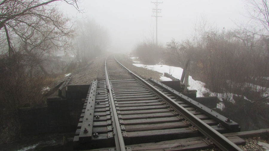 Taking Photos Foggy Morning Clam River Walkway Along The Tracks Cool_capture_ Quiet For Now! Lol Cadillac Michigan