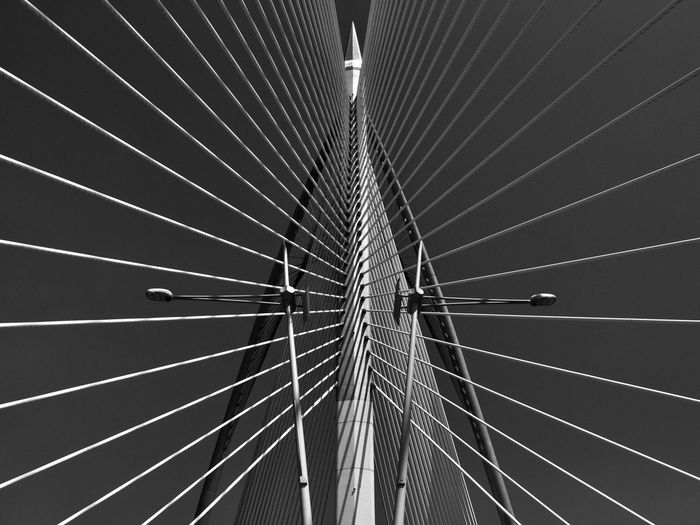 Lines Shape Architecture Blackandwhite Bridge Bridge - Man Made Structure Built Structure Directly Below LINE Low Angle View Metal No People Outdoors Pattern Steel EyeEmNewHere