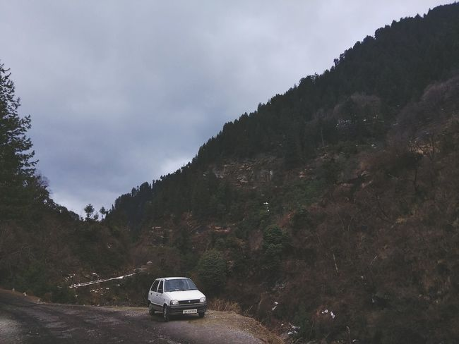Scenics Winter Beauty In Nature Outdoors Nature Mountain Range Landscape No People Cold Temperature Sky Mountain Day Environment EyeEmNewHere Stationary Outdoor Pursuit Love Abandoned Car Transportation Tree Nature