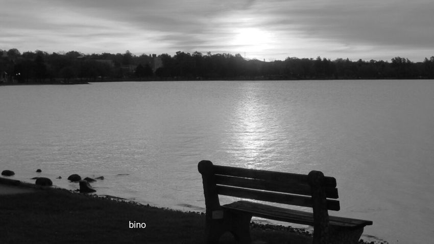 From The Archives Around The Lake Have A Seat, Enjoy The View! Still Water Surface Black And White Photography Lake Cadillac Pure Michigan
