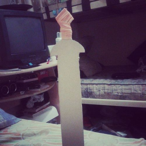 Minha primeira espada feita por mim! *-* Gladio Hdo Percy