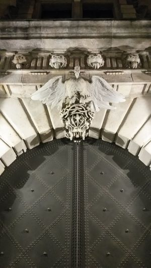 Architecture Low Angle View No People Eagle Eagles Nest Door Metal Stone Material Stone Wall Entrance Entrance Gate Entrance Door Entrance Portal No Filter, No Edit, Just Photography Details Detail Details Architecture_collection Architecture Dresden Dresden / Germany Lions Head Lionshead