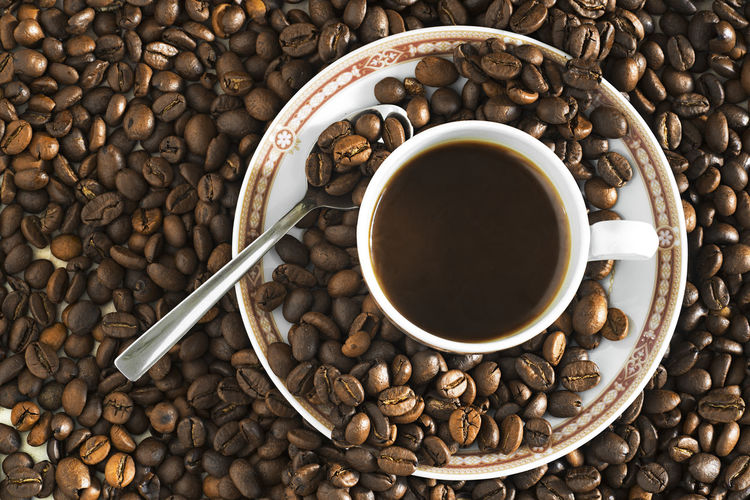 coffee beans grains and cup coffee Agriculture Beans Coffee Coffee Grains Coffee Time Colombia Colombia Coffee Bean Cafe Café Molido Close-up Coffee - Drink Coffee Bean Coffee Beans Coffee Cup Coffee Grounds Drink Food And Drink Granos De Cafe