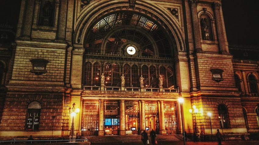 Budapest Keleti Raillway Station Main Entrance Nightphotography Work In Night