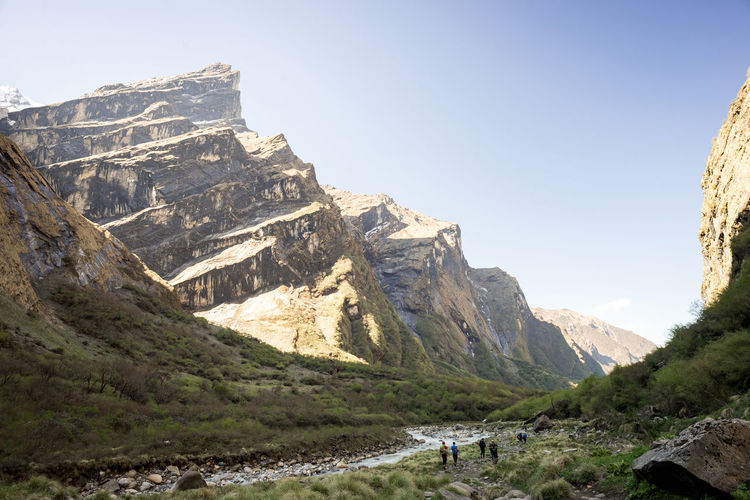The Great Outdoors - 2017 EyeEm Awards Mountain Nature Mountain Range Outdoors Beauty In Nature Travel Destinations Scenics Cliff Himalayas Nepal Trekking Hiking Backpacking