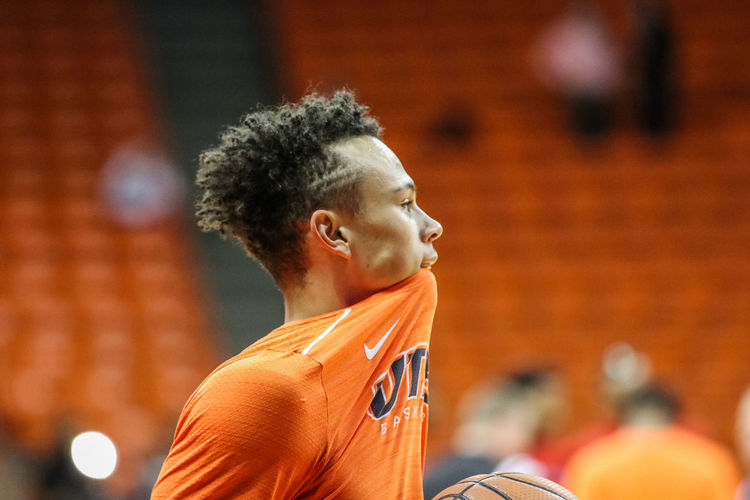 UTEP BASKETBALL! Day Focus On Foreground Headshot Indoors  One Person Orange Color People Real People Spirituality Young Adult