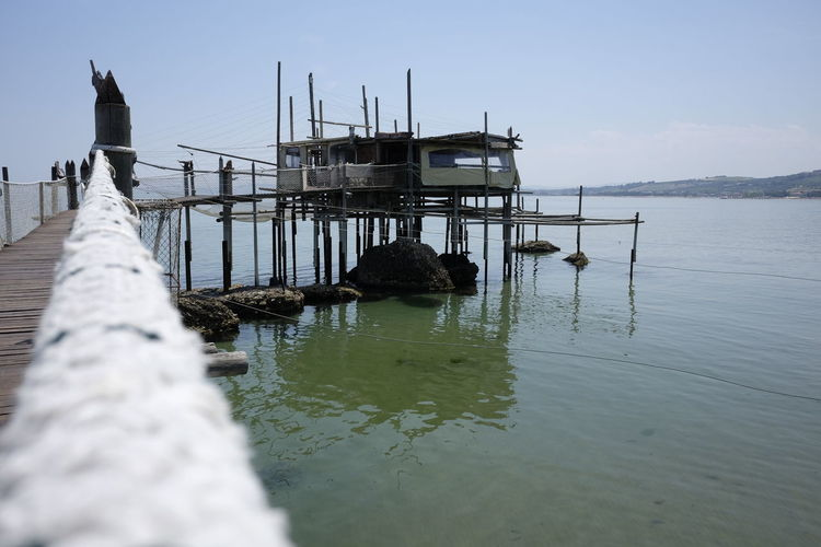 Architecture Beach Beauty In Nature Built Structure Day Horizon Over Water Nature No People Outdoors Sea Sky Trabocco Tranquility Trebuchet Water