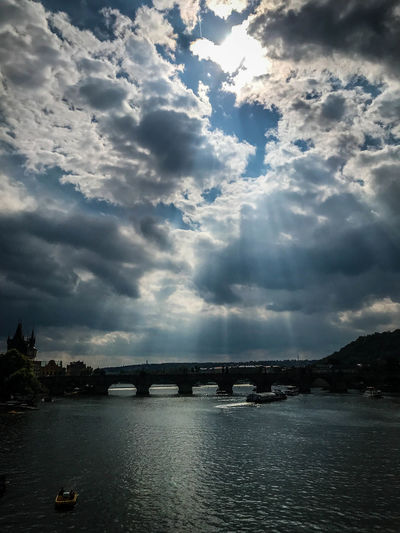 Architecture River Water Nature Sky Bridge Outdoors Tranquility Transportation Waterfront Beauty In Nature Connection No People Arch Bridge Tranquil Scene Cloud - Sky Built Structure Bridge - Man Made Structure Scenics - Nature EyeemTeam