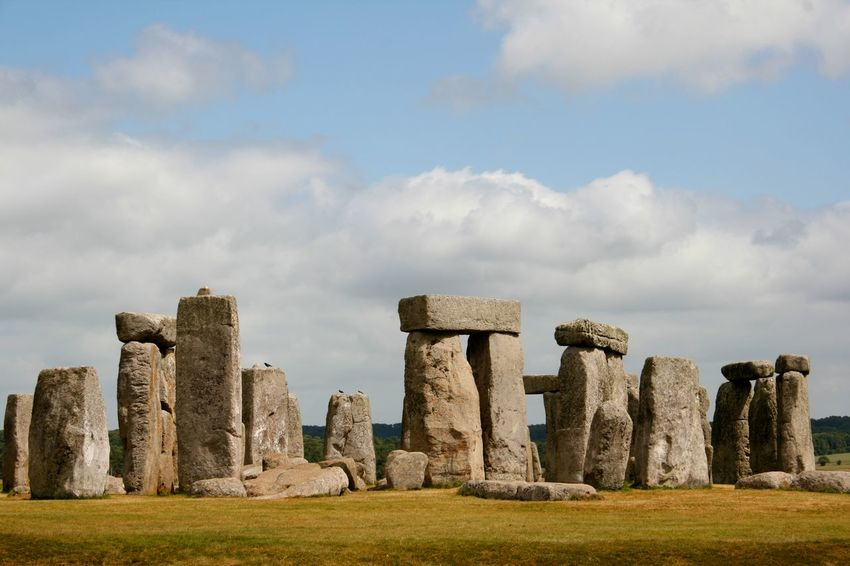 A view of the ancient stone circle Stonehenge in England Ancient Ancient Civilization Architecture Built Structure England, UK Historical Sights History Landscape Monument Mysterious Nature No People Old Ruin Outdoors Standing Stones Stone Circle Stonehenge Tourism Tourist Attraction  Travel Destinations