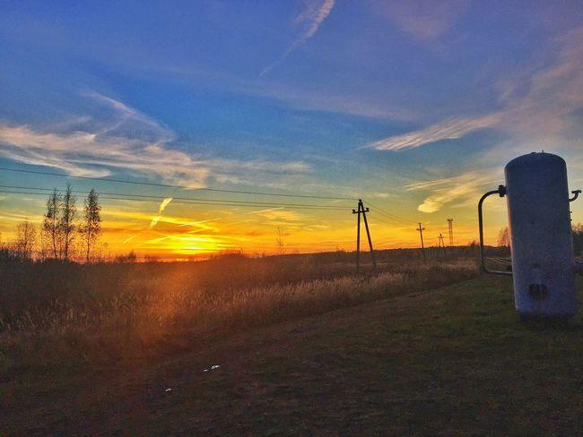 Sunset Sun Nature Railway