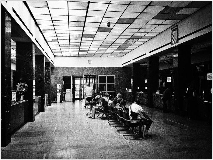 "architectural masterpiece Zagreb ""Elektra"" - intérieur architect Juraj Denzler 1932. Architecture Blackandwhite"