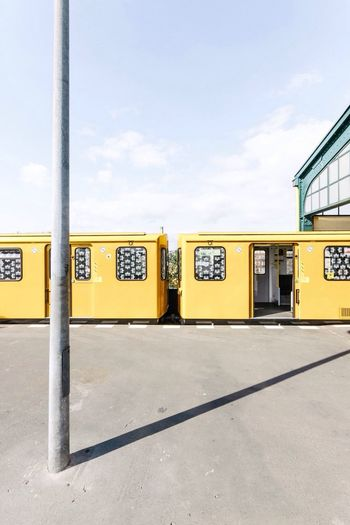 Yellow Train On Station