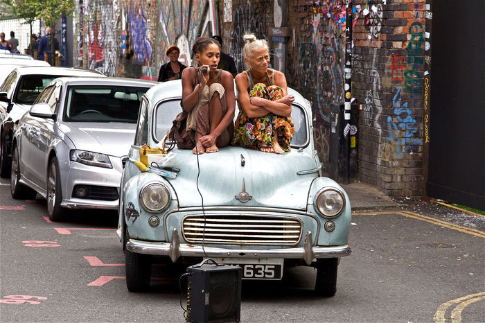 Day Mode Of Transport Morris Minor 1000 Outdoors Person Shoreditch Sitting Street Transportation