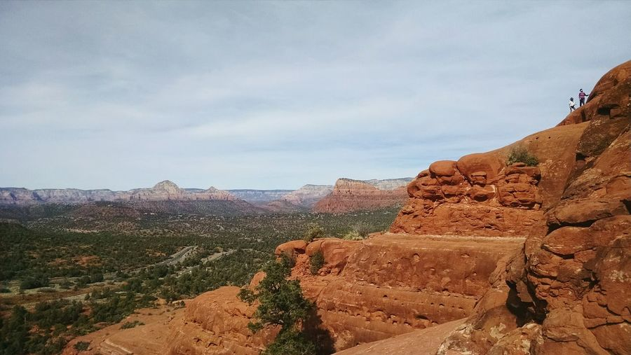 Nature Sky Outdoors Landscape Beauty In Nature Day Scenics Cloud - Sky No People On The Edge Sedona Arizona Mountain Peak Tranquility Forest Leisure Activity Pinaceae Tranquil Scene Lifestyles Nature Hiking Mountain Travel Rocks Freshness Perspectives On Nature