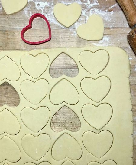 Baking Love Cookies ♡♡♡♡♡ Hearts Sugar I am happy with ingredients for a good recipe. My kitchen is my therapy😊❤