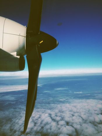 Propeller Turboprop Ethiad Sky und Up In The Air Flying Fly Flying High
