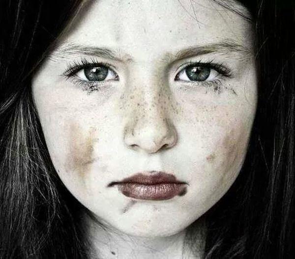 Beautiful Kid Sad Face Face