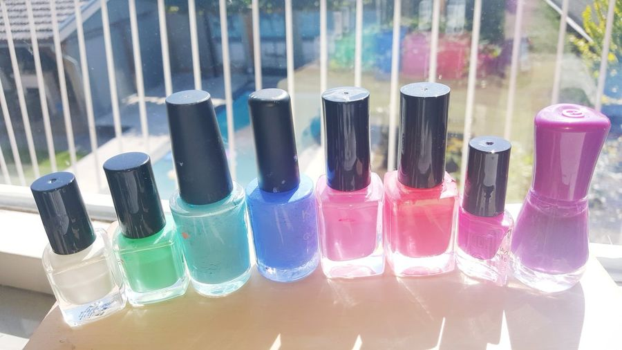Neon Life No People Indoors  Day Close-up Nail Colors Mail Lacquer