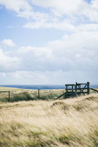 Bleak Clouds Country Countryside England Fence Fresh Air Gate Grass Hiking Hills Landscape Moors Nature Outdoors Path Quiet Rambling Route Sky Sunny Trail Walking Yorkshire