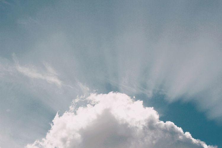 Shine Cloud - Sky Sky Low Angle View Beauty In Nature Day No People Nature Heaven White Color Tranquility Tranquil Scene Cloudscape Blue Environment Outdoors