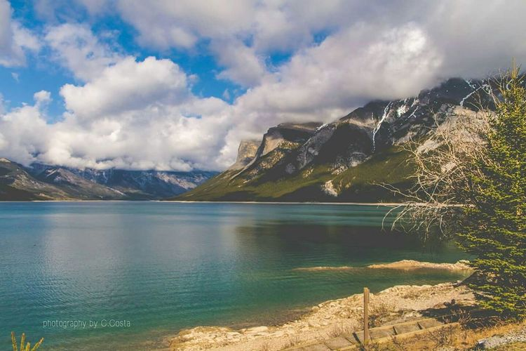 Banff National Park  Alberta Canada Landscape Travel Mountain Lake Minnewanka