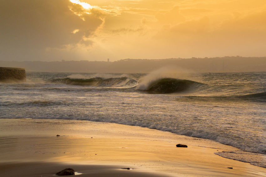 BodyBoarding Liquid Nature Surf Color Landscape No People Photography Sea Sunset Water Wavephotography