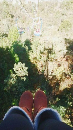 Nao olha para baixo😝 Campas Festivaldeinverno Boots Teleferico First Eyeem Photo
