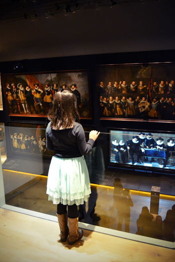 Amsterdam Child Curiosity Dutch Heritage Full Length Hermitage Hermitage Amsterdam Indoors  Kid Museum Museum Of Art Nederland One Person Painting People Rear View Standing Watching