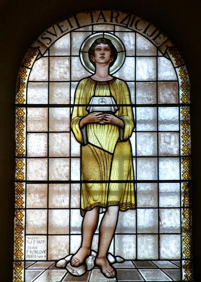 Saint Tarcisius Belief Christianity Church Croatia Faith Holy Religion Religious  Saint Spirituality Stained Glass Tarcisius Window Windowpane Worship