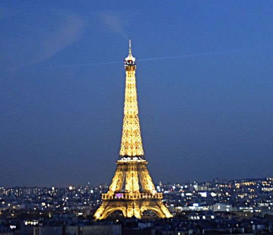 Oui oui, Paris! View From Above ParisByNight Paris Building Exterior Tourism Illuminated Cityscape Night Sky History EyeEmNewHere