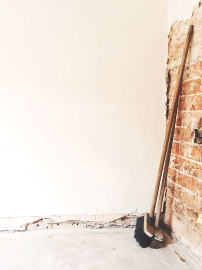 House renovations DIY House Repair Wall - Building Feature Copy Space Built Structure Day Architecture No People Wall Damaged Broom Old Textured  Home Improvement