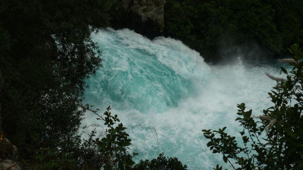 Huka Falls, Taupō NZ Love this power and place Lumix GH4 Huka Falls New Zealand Waterfall Indiginz Tree Sea Power In Nature Scenics