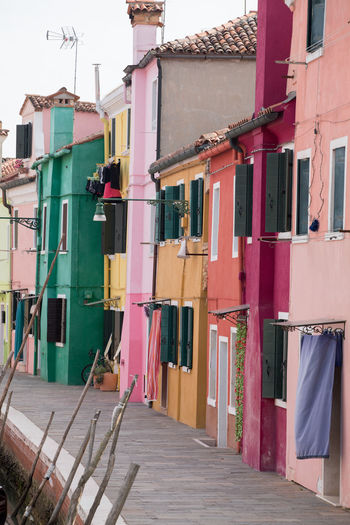 Canal Walks Coloured Houses Living On Burano No People Outdoors Quiet Moments Travel Destinations Travel Photography