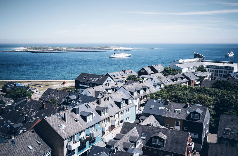 Archipelago Helgoland Architecture Building Building Exterior Built Structure City Cityscape Day High Angle View Horizon Horizon Over Water Island Mode Of Transportation Nature No People Outdoors Residential District Roof Sea Sky TOWNSCAPE Transportation Travel Destinations Water